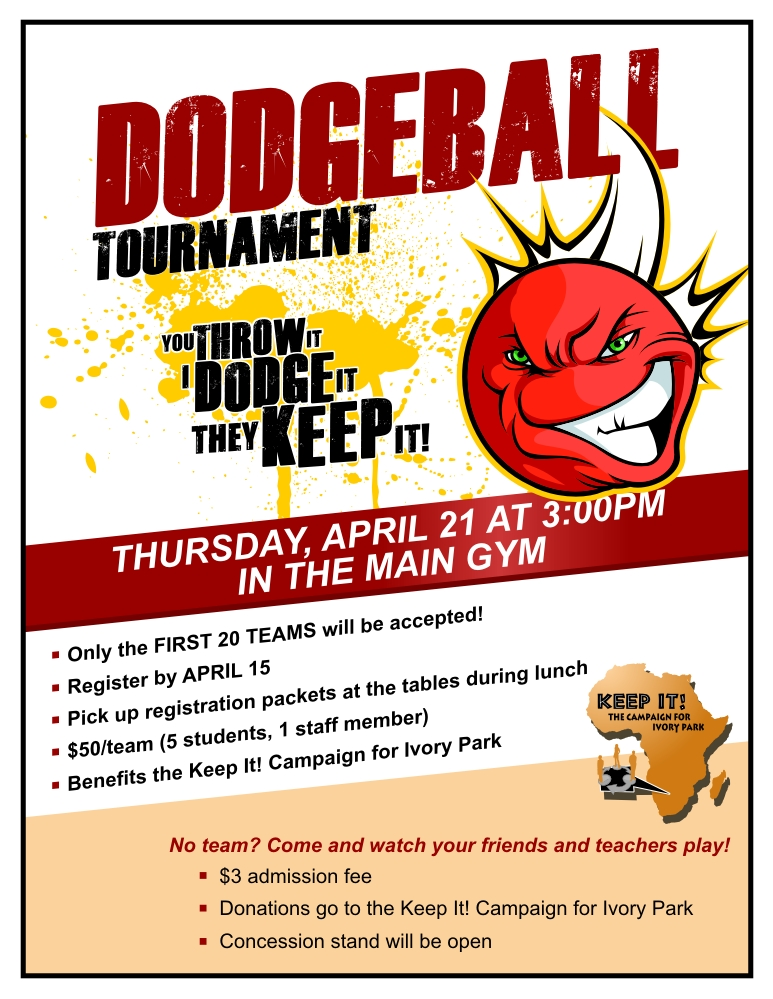 Dodgeball Tournament - Publicity Tools
